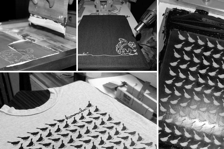 Im Schweisse Kommabei Siebdruck Collage