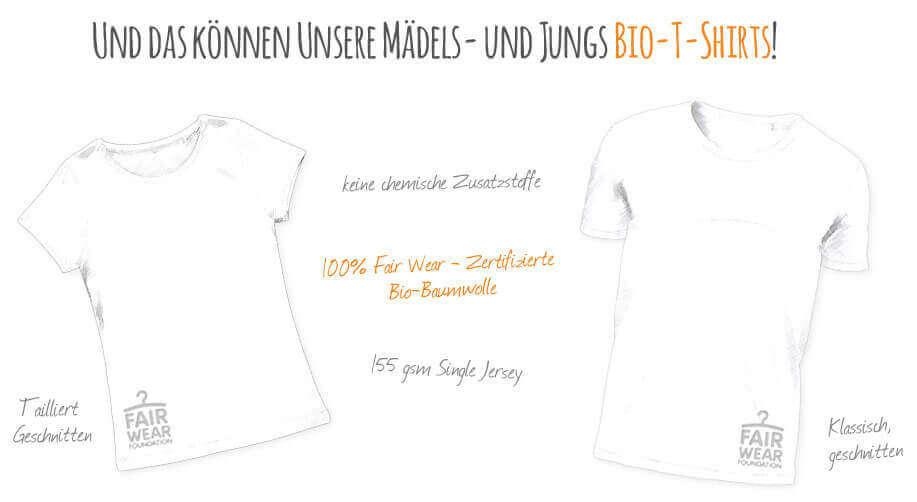 Kommabei Onlineshop Bio Mode T-Shirts für Mädels und Jungs Textilien mit Nachhaltigkeit und Sinn