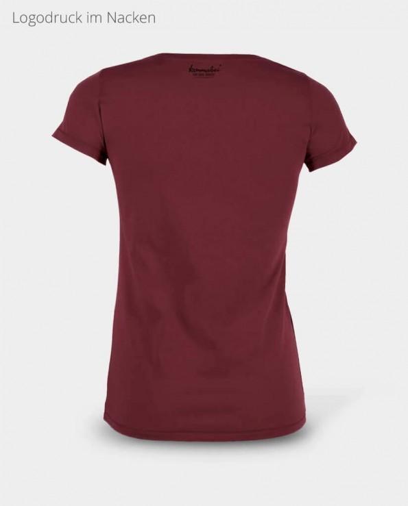 Kommabei Damen T-Shirt Nackendruck