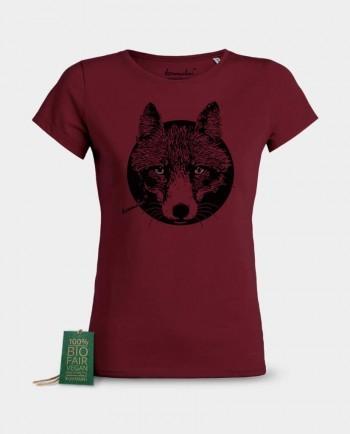 Damen T-Shirt Reineke Fuchs weinrot Kommabei Onlineshop