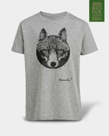 Kommabei Kinder T-Shirt Fuchs Grau