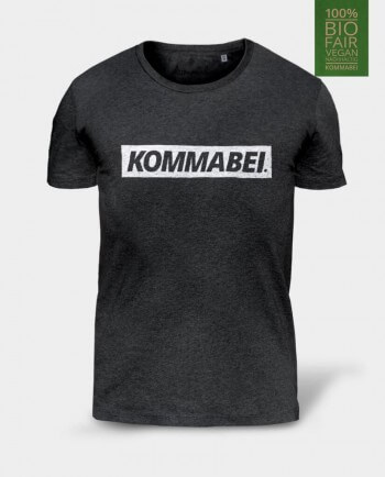 Kommabei Block Logo Bio Herren Shirt