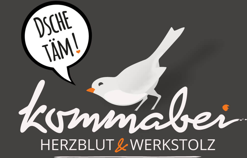 Kommabei Logo Footer