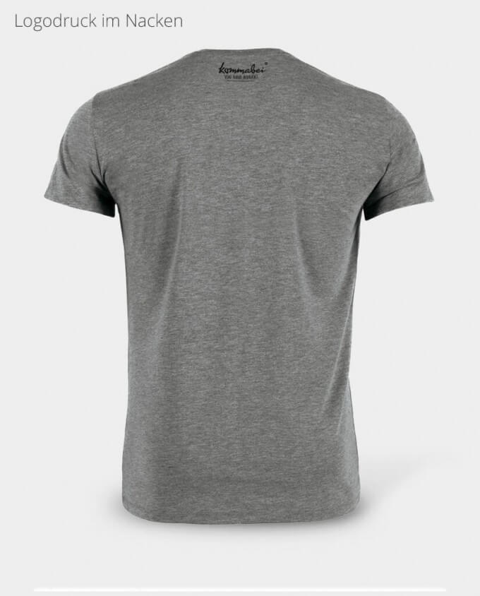 Kommabei Herren T-Shirt Nackendruck