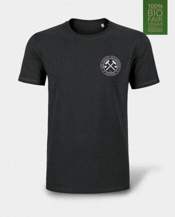 T-Shirt Tiefe schafft Bescheidenheit Herzdruck schwarz