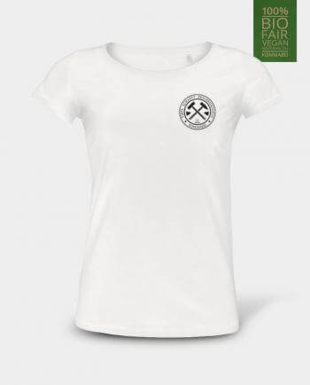 Damen T-Shirt Tiefe schafft Bescheidenheit Herzdruck Kommabei