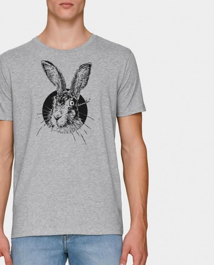 Herren Bio T-Shirt Hase