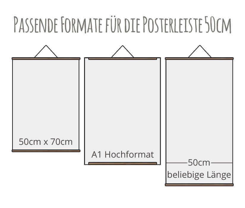 Posterleiste / Bilderleiste 50cm Formate Kommabei Onlineshop