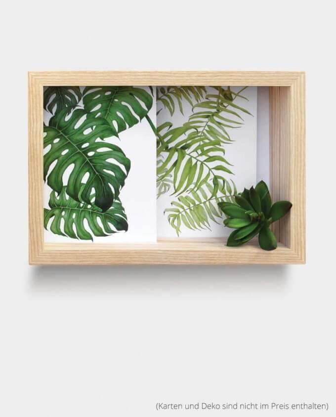 Kartenrahmen Bilderrahmen Pflanzen deko Kommabei Onlineshop