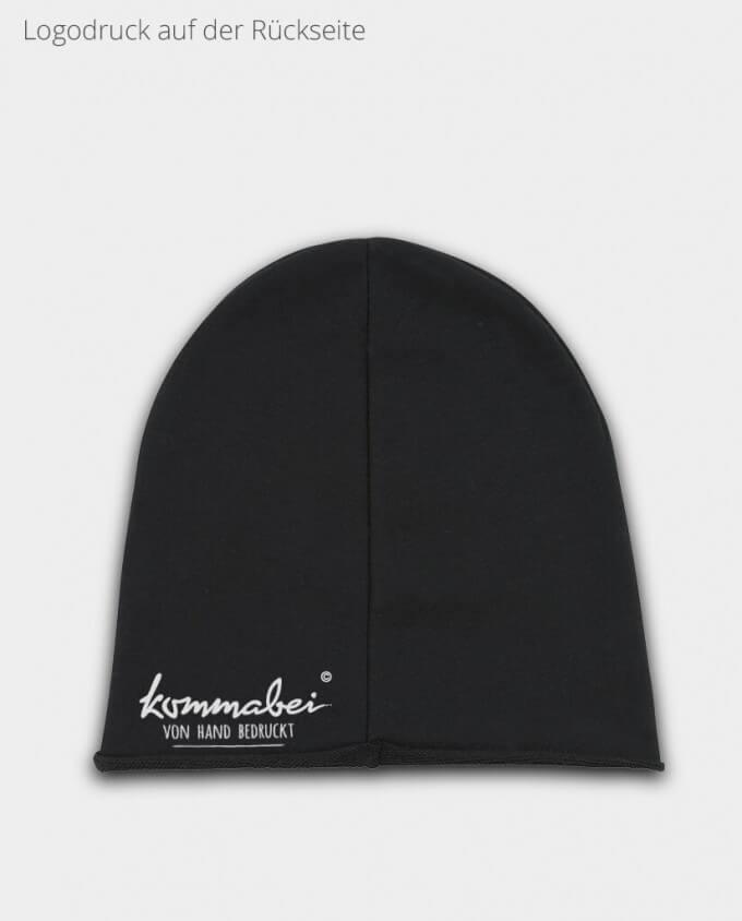 Mütze Beanie Schwarz Rückseite
