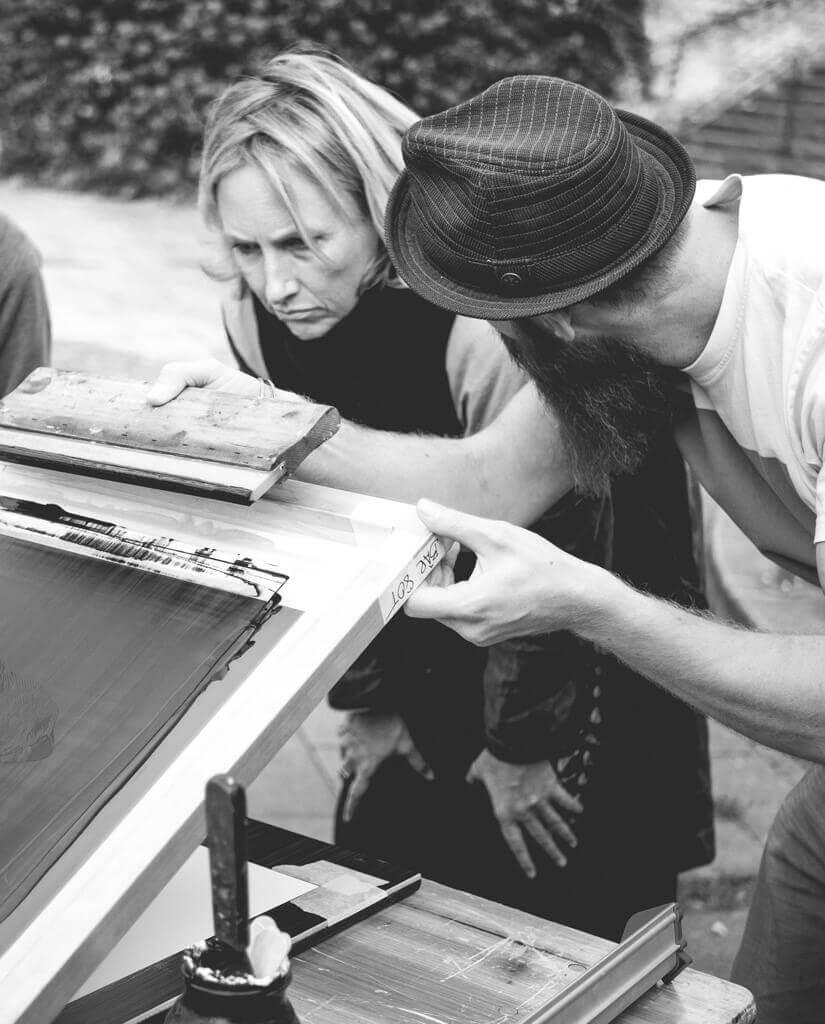 Siebdruck Workshops von Kammabei