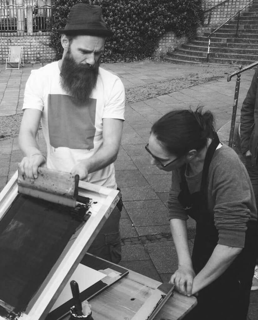 Siebdruckkurse und Workshops von Kommabei
