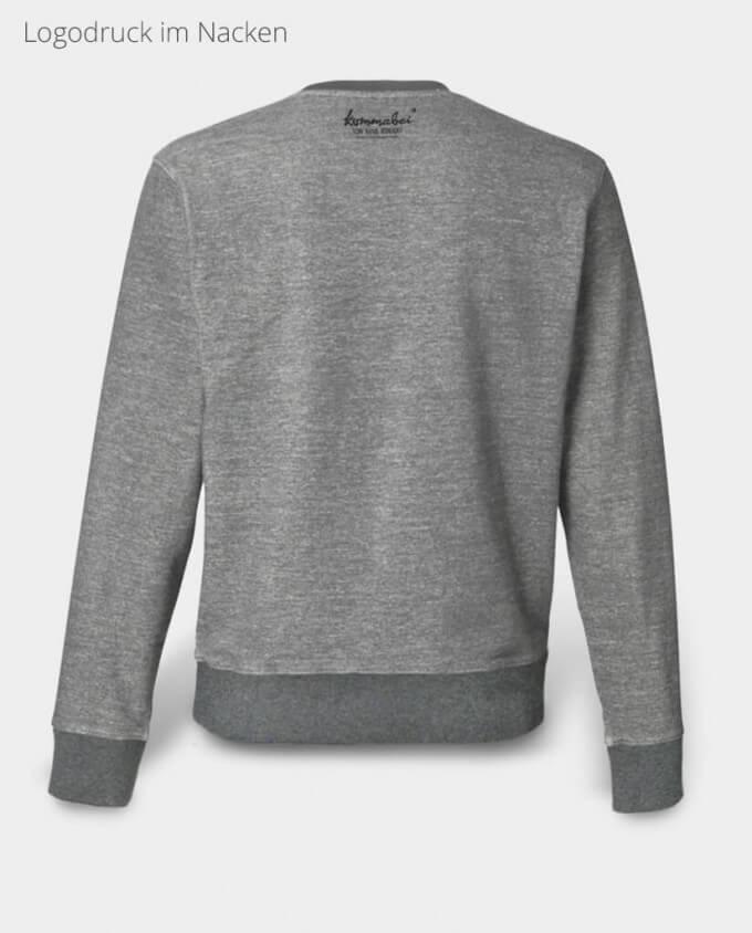 Herren Sweatshirt Bär Nackendruck Kommabei