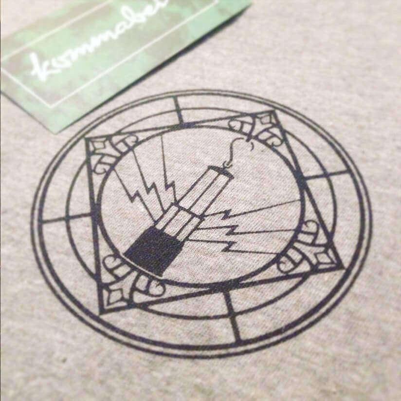 T-Shirt Geleucht Detail