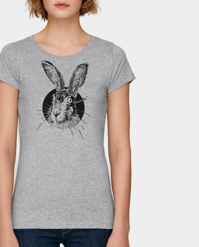 Bio Damen T-Shirt mit Hasen Motiv