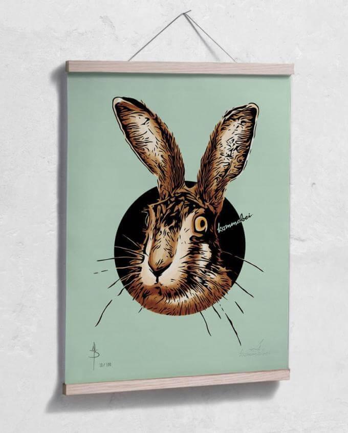 Poster Kunstdruck Meister Lampe mit Posterleiste aus Eiche im Kommabei Shop