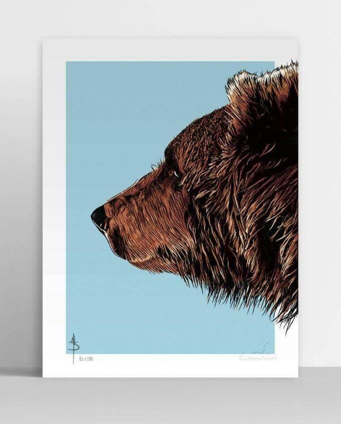 Poster Kunstdruck Bruder Bär von Kommabei