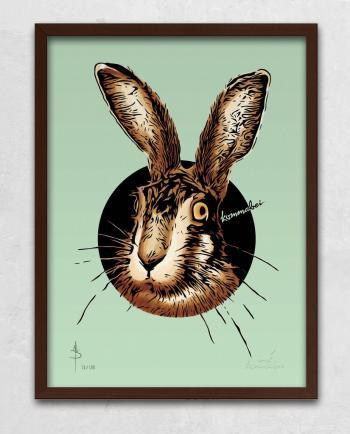 Poster Kunstdruck Meister Lampe mit Bilderrahmen Braun im Kommabei Shop