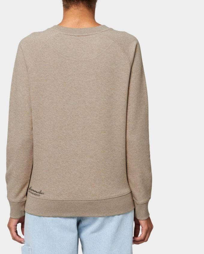 Pullover Damen Sweatshirt Sand Bär Rücken