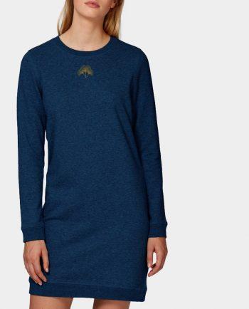 Sweatshirt Kleid Ginko Blau Schwarz