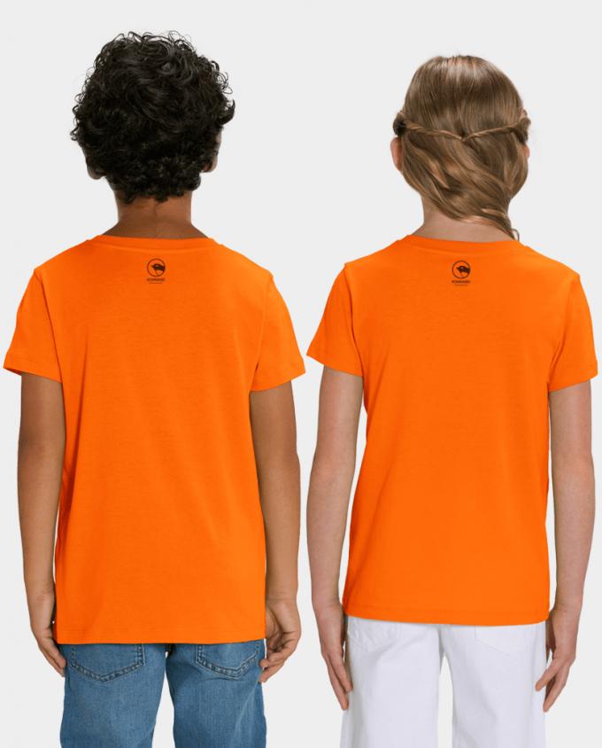 Unisex Kinder T-Shirt Fuchs Rückenansicht